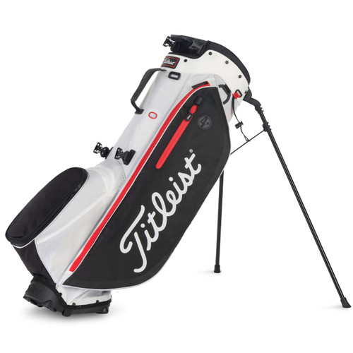 Titleist Players 4 Plus Stand Bag - White / Black / Red
