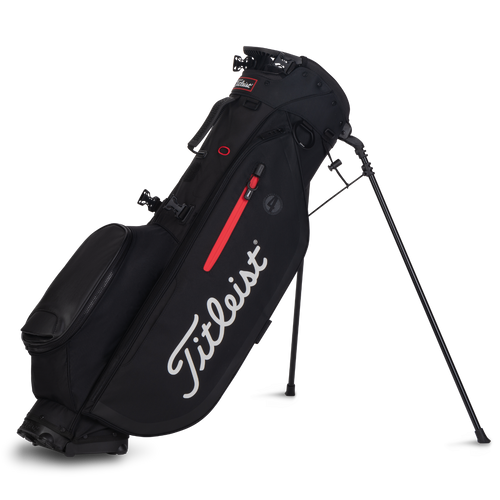 Titleist Players 4 Stand Bag - Black / Black / Red