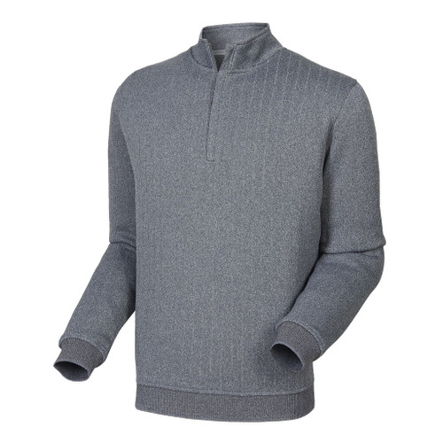 FootJoy Drop Needle Half-Zip Pullover - Heather Charcoal (25057)