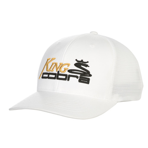 Cobra KING Trucker Snapback Cap - White