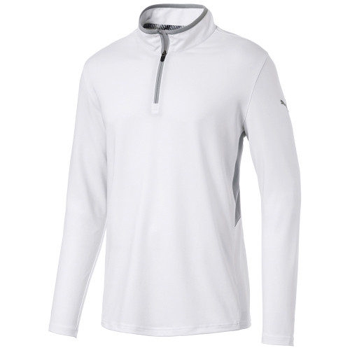 Puma Rotation 1/4 Zip Golf Top - Bright White