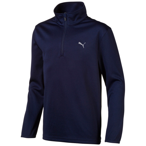 Puma Boys 1/4 Zip Jacket - Peacoat