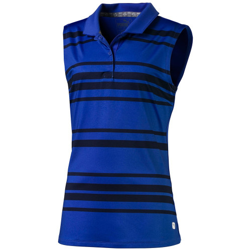 Puma Girls Stripe Sleeveless Polo - Ultra Marine