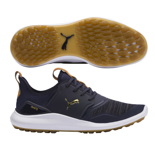 Puma IGNITE NXT Lace Golf Shoes - Peacoat / Puma Team Gold / Puma White
