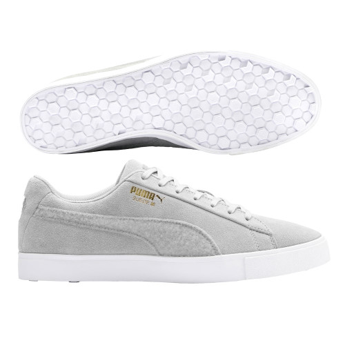 Puma Limited Edition Suede G Patch Golf Shoes - Quarry