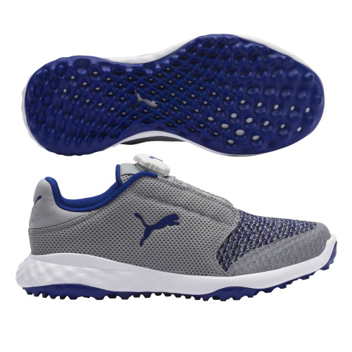 Puma Grip Fusion Sport Junior Golf Shoes - Quarry / Surf The Web