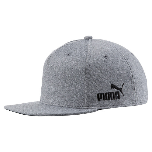 Puma Cresting Snapback Cap - Medium Gray Heather / Puma Black