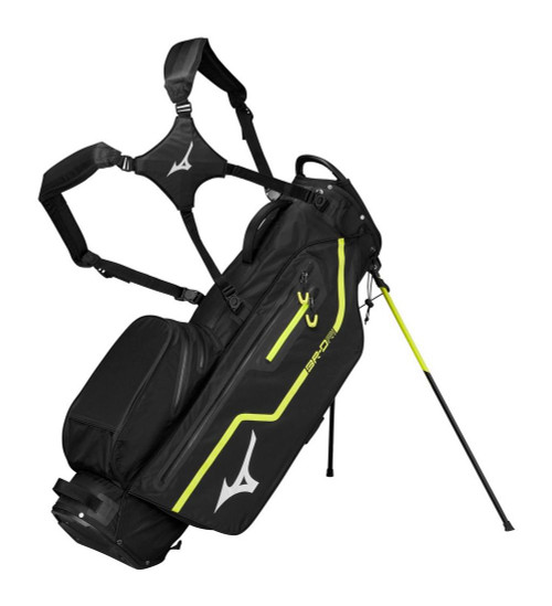Mizuno BR-DRI Stand Bag - Black / Lime Punch