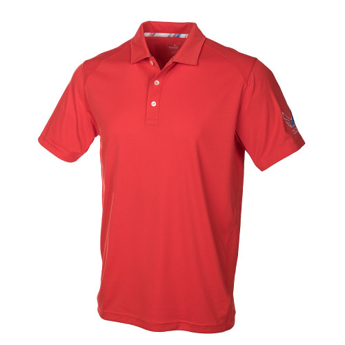 Puma Juniors Volition Pounce Polo - High Risk Red
