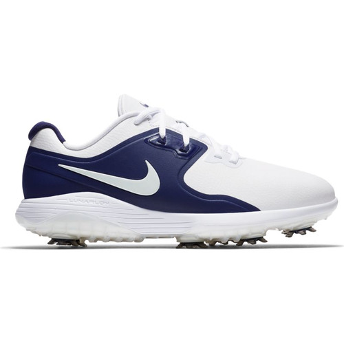 Nike Vapor Pro Golf Shoes - White / Midnight Navy / Volt