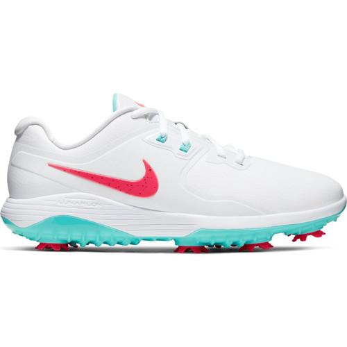 Nike Vapor Pro Golf Shoes - White / Hot Punch / Aurora Green