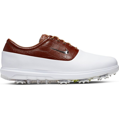 Nike Air Zoom Victory Tour Golf Shoes - White / Chrome / Lt British Tan