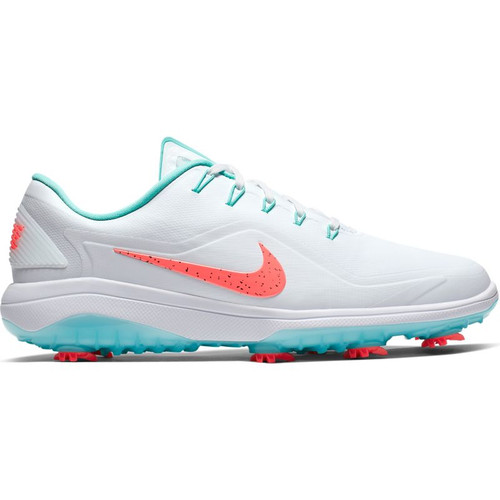 Nike React Vapor 2 Golf Shoes - White / Hot Punch / Aurora Green