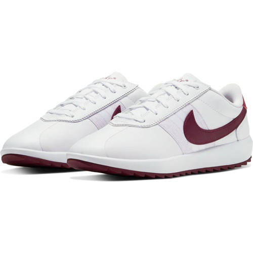 Nike Womens Cortez G Golf Shoes - White / Villain Red / Barely Grape
