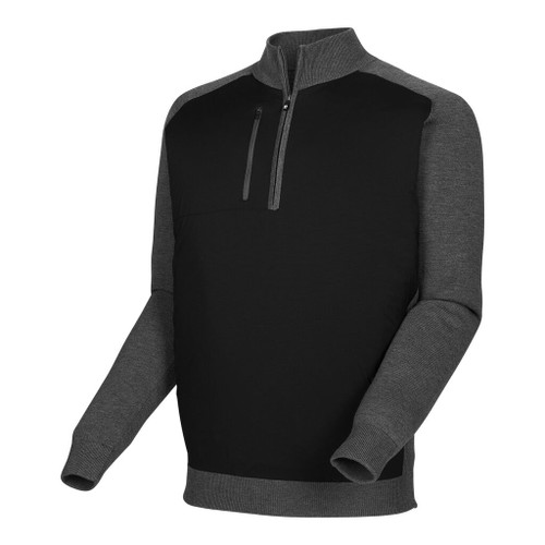 FootJoy Tech Sweater - Black / Heather Charcoal (25072)