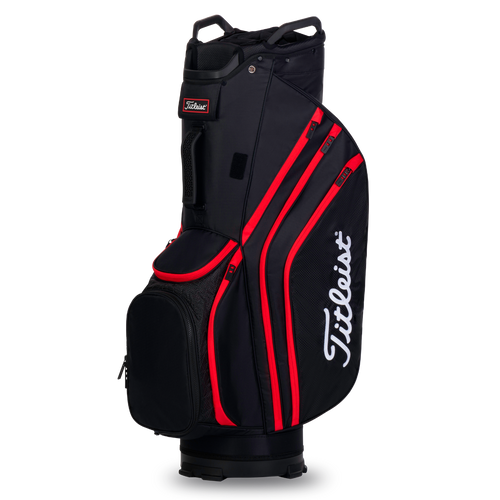 Titleist Cart 14 Lightweight Bag - Black / Black / Red