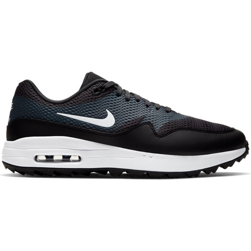 Nike Air Max 1 G Golf Shoes - Black /  White / Anthracite
