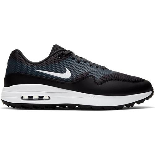Nike Air Max 1 G Golf Shoes - Black /  White / Anthracite