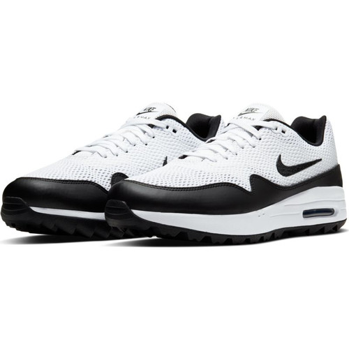 Nike Air Max 1 G Golf Shoes - White / Black