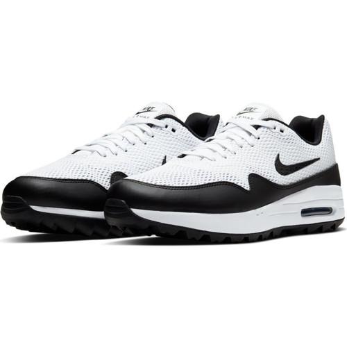 Nike Air Max 1 G Golf Shoes - White / Black