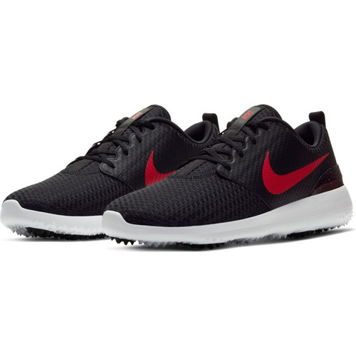 Nike Roche G Golf Shoes - Black / University Red / White