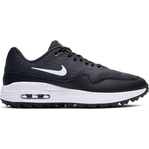 Nike Womens Air Max 1 G Golf Shoes - Black / White / Anthracite