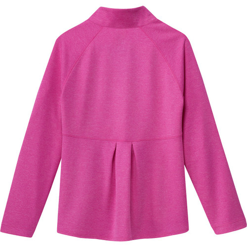 Adidas Girls Full Zip Layering Top - Shock Pink