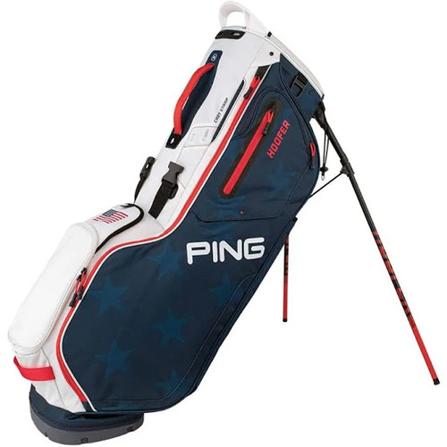 Ping Hoofer Stand Bag - Navy / White / Red