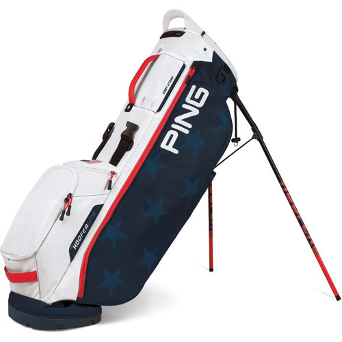 Ping Hoofer Lite Stand Bag - Navy / White / Red