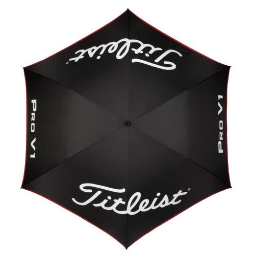 Titleist Tour Single Canopy Umbrella 2020 - Black / Black / Red
