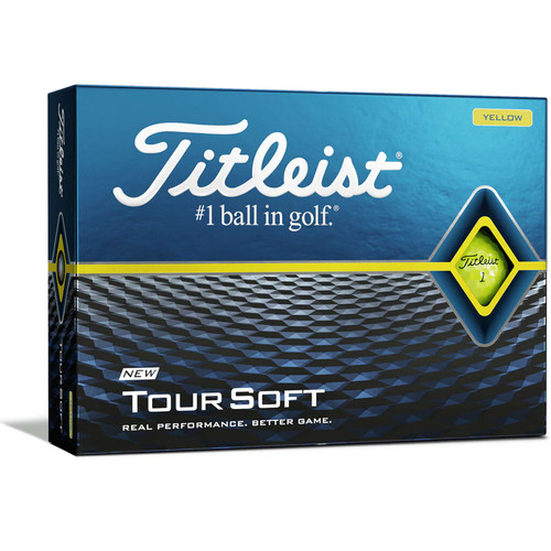Titleist Tour Soft Yellow Dozen Golf Balls 2020