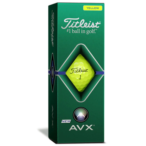 Titleist AVX Yellow Dozen Golf Balls