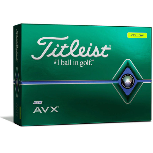 Titleist Personalized AVX Yellow Dozen Golf Balls