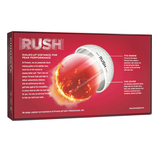 Pinnacle Personalized RUSH 15-Ball Pack - White
