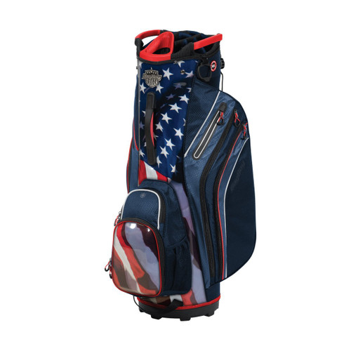 BagBoy Shield Cart Bag - USA - Navy / Red / White