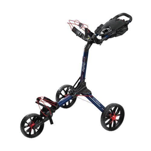 BagBoy Nitron Auto-Open Push Cart - Navy / Red