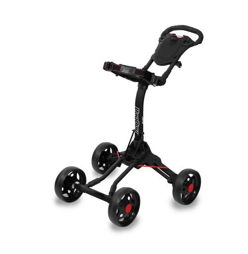 BagBoy Quad Junior Push Cart - Black / Red