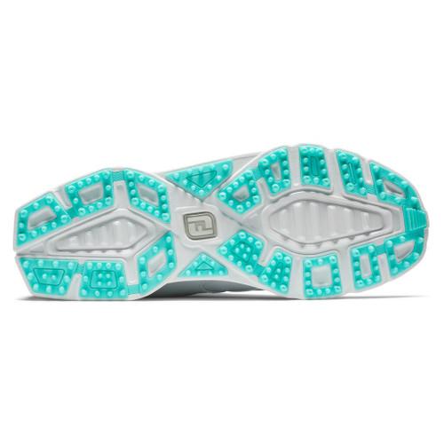 FootJoy Pro SL Womens Golf Shoes - White / Aqua (98117)