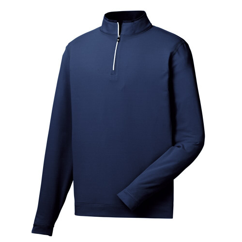 FootJoy Lt Weight Striped 1/2 Zip Pullover - Navy / White (25151)