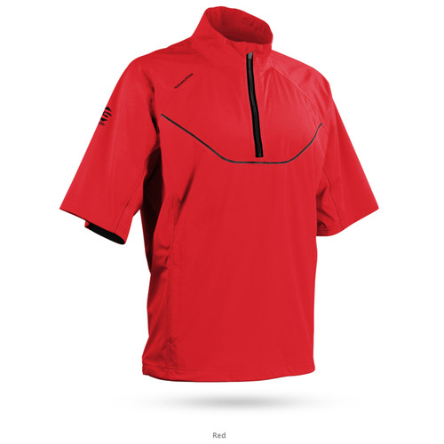 Sun Mountain Tour Series Short Sleeve Pullover - Red