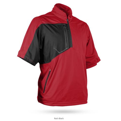 Sun Mountain Rainflex Short Sleeve Pullover - Red / Black