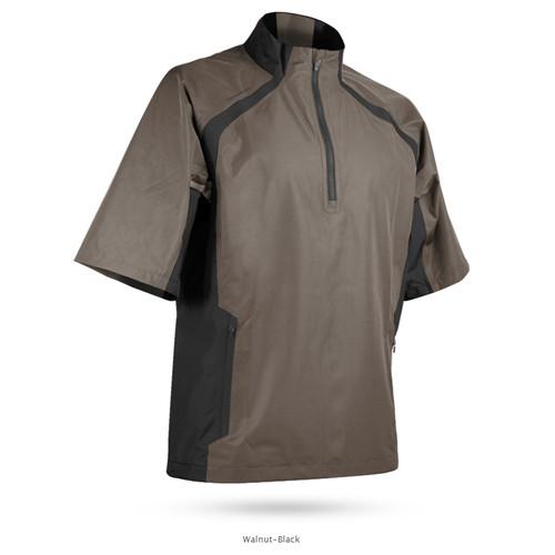 Sun Mountain Cumulus Short Sleeve Pullover - Walnut / Black