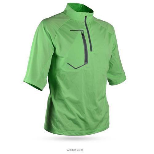 Sun Mountain Zephyr LT Short Sleeve Pullover - Summer Green
