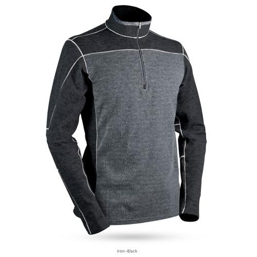Sun Mountain Pryor Performance Sweater - Iron / Black