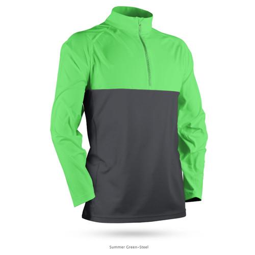Sun Mountain Second Layer Pullover - Summer Green / Steel