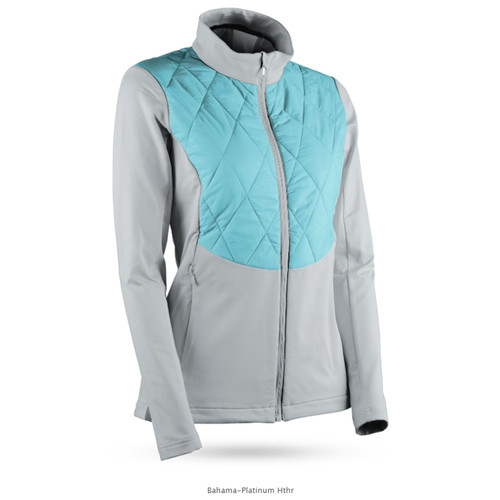 Sun Mountain Womens AT Hybrid Jacket - Bahama / Platinum
