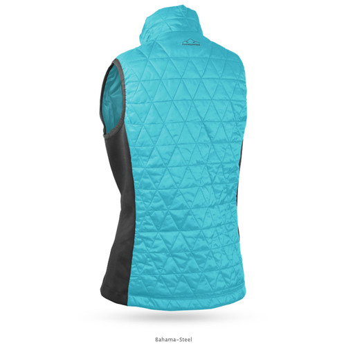 Sun Mountain Womens AT Hybrid Vest - Bahama / Steel