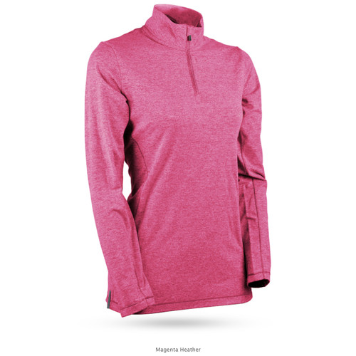 Sun Mountain Womens Second Layer Pullover - Magenta Heather