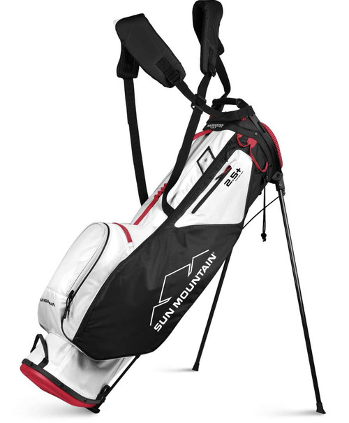 Sun Mountain 2.5 + 14-Way Stand Bag - White / Black / Red