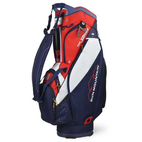 Sun Mountain Tour Series Cart Bag - Navy / White / Red